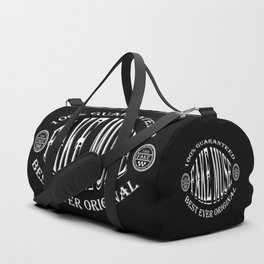 Fake Muse badge (white on black) Duffle Bag