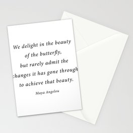delight in the beauty of the butterfly Stationery Cards