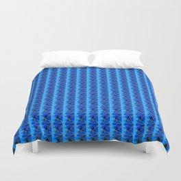Blue Triangles Duvet Cover
