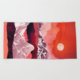 Scarlet Glow Beach Towel