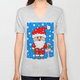Merry Christmas Santa Unisex V-Neck