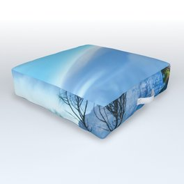 Table Mountain blanketed in cloud Outdoor Floor Cushion