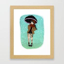 Winter Rock Framed Art Print