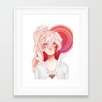 roosterteeth Framed Art Prints featuring Weiss Schnee by ★ thiefofstars ★