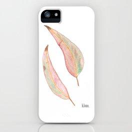 Australian Native Series - Gum tree leaves iPhone Case
