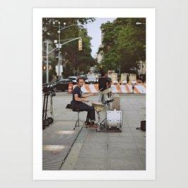 Drummer in the Park Art Print