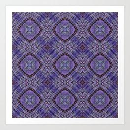 Purple Zen Doodle Pattern Art Print