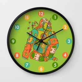Gorilla, cool wall art for kids and adults alike Wall Clock