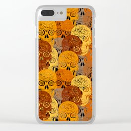 Halloween sugar skulls 2 Clear iPhone Case
