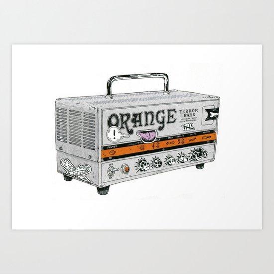 Orange Terror Bass Amplifier ( with stickers) Art Print