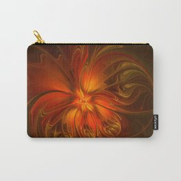 Burning, Abstract Fractal Art With Warmth Carry-All Pouch