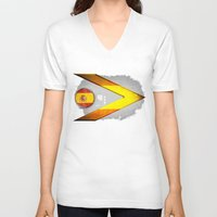 spain V-neck T-shirts featuring Spain by ilustrarte