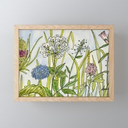Herbs Wildflowers Garden Flowers Framed Mini Art Print
