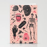 doodle Stationery Cards featuring Whole Lotta Horror by Josh Ln
