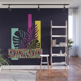Neon Tropical #society6 #tropical Wall Mural