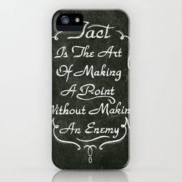 Lettering 001 iPhone Case
