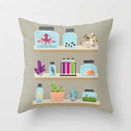 Witchy Shelves Throw Pillow