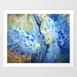 Ocean Breeze Meets Falls Beauty Art Print