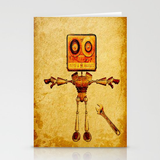 Repair of the robot Stationery Cards