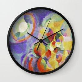 "Robert Delaunay ""Simultaneous contrasts sun and moon"" Wall Clock"