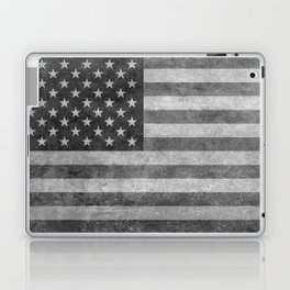 US flag - retro style in grayscale Laptop & iPad Skin