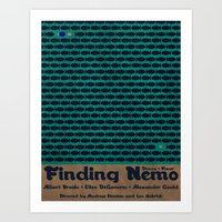 finding nemo Art Prints featuring Forever Finding Nemo by Matt Bacon
