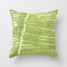 Juicy green Throw Pillow