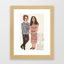 Bob Dylan & Joan Baez Framed Art Print