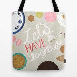 Let's Have Tea Art Print Tote Bag