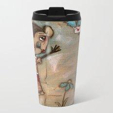 I Feel the Same  -  A Monkey, A Blue bird, and Love Metal Travel Mug