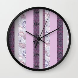zakiaz French Stripe Lavender Wall Clock
