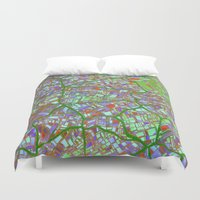 maps Duvet Covers featuring Fantasy City Maps 2 by MehrFarbeimLeben