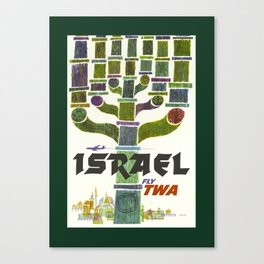 Vintage Israel Travel Poster Canvas Print