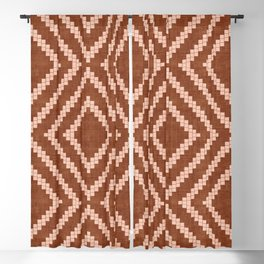 Loom in Rust Blackout Curtain