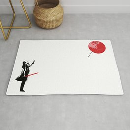 That's No Banksy Balloon (It's a Space Station) Rug