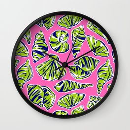 Shells on Pink Wall Clock