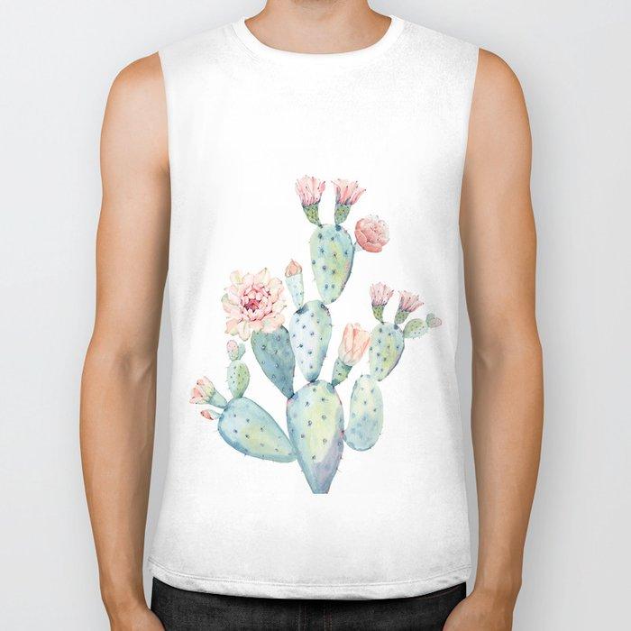 Cactus 2  White #society6 #buyart Biker Tank