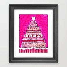 Love#6 - Wedding Cake Framed Art Print