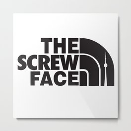 Screw Face  Metal Print