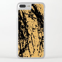 Brown Splatter Clear iPhone Case