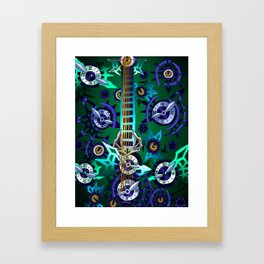Fusion Keyblade Guitar #192 - No Name & Young Xehanort's Keyblade Framed Art Print