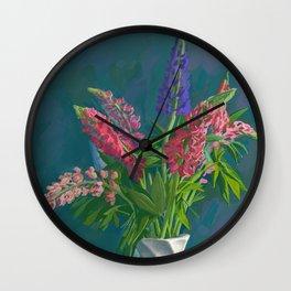 Dacha's Lupins Wall Clock