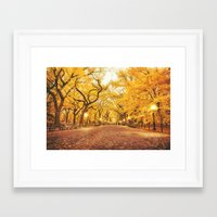new york city Framed Art Prints featuring New York City Autumn by Vivienne Gucwa