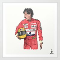senna Art Prints featuring SENNA  by calds29