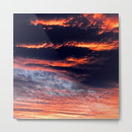 Sunset After Dangerous Tropical Cyclone in Palau Islands Metal Print