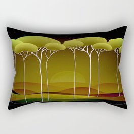 Sunrise on the Hill Rectangular Pillow