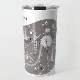 Mapping London -Grey Travel Mug