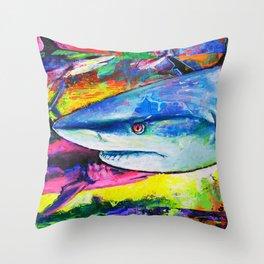 Shark Colors Throw Pillow