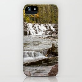 Waterfall - McDonald Creek - Glacier National Park iPhone Case