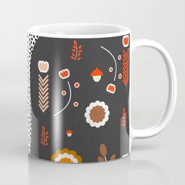 Acorns, flowers and a dotted river Coffee Mug